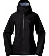 bergans jas women gjende 3l black solid charcoal-m