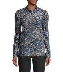kobi halperin women's ori leopard-print silk blouse - faded - size xs