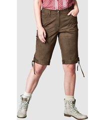 shorts med snörning nedtill janet & joyce brun
