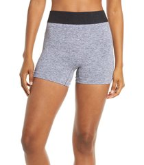 free people fp movement seamless shorts, size x-small in heather grey at nordstrom