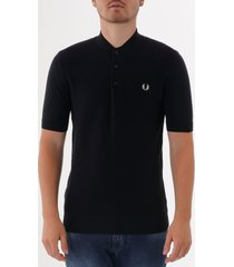 fred perry expanded pique knitted shirt - navy k5510-608