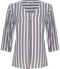 blusa doble raya con quiebre color negro, talla m