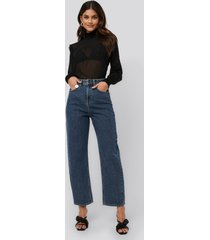 na-kd trend high waist oversized jeans - blue