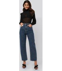 na-kd trend high waist oversized jeans - blue