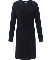 gebreide jurk van 100% kasjmier met raglanmouwen van include zwart