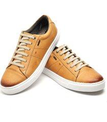sapatenis sapato casual   preto ref: at2103-lt004 - amarelo - masculino - dafiti
