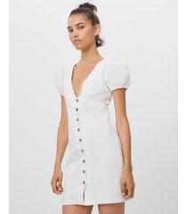 jurk met knopen en cocoonmouw
