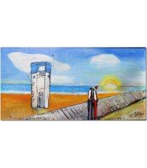 "courtside market william debilzan lagune beach lifeguard 12""x24""x2"" gallery-wrapped canvas wall art"