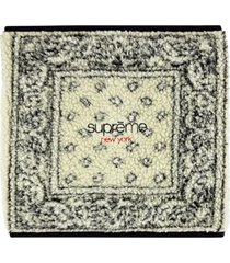 supreme bandana fleece neck gaiter - black
