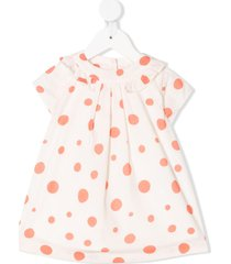 knot pool dots dress - neutrals