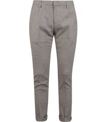 dondup classic tight fit trousers