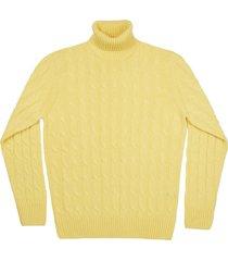 maglione da uomo, lanieri, 100% cashmere limone, autunno inverno