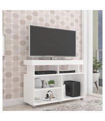rack para tv até 42 pol permóbili móveis slim branco