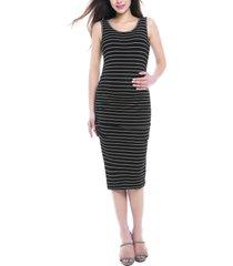 women's kimi and kai tobi stripe maternity dress, size small - black