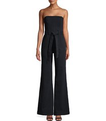 alice + olivia women's gorgeous susy strapless jumpsuit - night - size 30 (8-10)