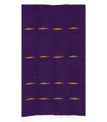 native yoga thunderbird blanket purple cotton