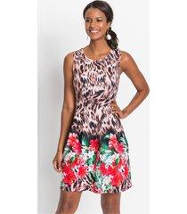jurk met luipaardprint en bloemen