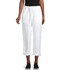 cotton & linen-blend pants