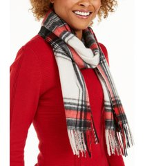 charter club plaid woven cashmere scarf, created for macy's