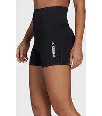 short adidas outdoor w mt shorts negro - calce ajustado