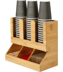 mind reader 6 compartment upright coffee condiment and cup storage organizer