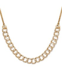 wrapped in love diamond curb-link bolo necklace (1 ct. t.w.) in 10k gold, created for macy's
