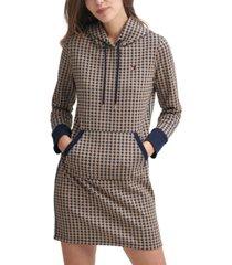 tommy hilfiger houndstooth hoodie dress