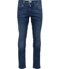 steve satin jeans zip slim jeans blauw morris
