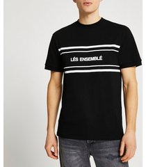 river island mens black 'lés ensemblé' slim fit t-shirt