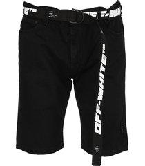 off-white off white black shorts