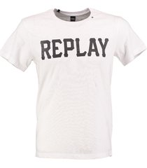 replay stevig wit t-shirt