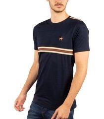 camiseta fondo entero sesgos azul oscuro ref. 107050819