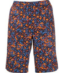 ps paul smith straight fit bermuda shorts - blue