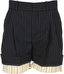 chloe pinstripe shorts