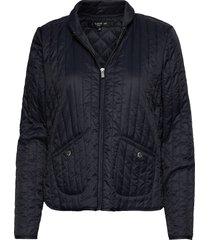 light quilt jacket doorgestikte jas blauw ilse jacobsen