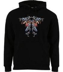 logo graphic hoodie, black
