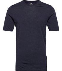 model 2 100% wool t-shirts short-sleeved blå dovre