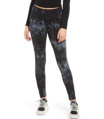women's vero moda tie dye leggings, size small - black