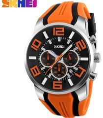 reloj de cuarzo impermeable deportivo al aire libre-naranja