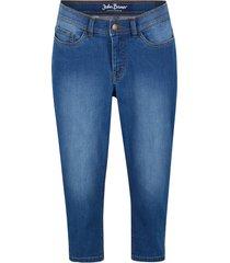 jeans capri elasticizzati comfort con effetto modellante (blu) - john baner jeanswear