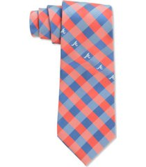 eagles wings atlanta braves checked tie