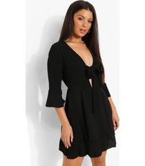 jurk met strik, black