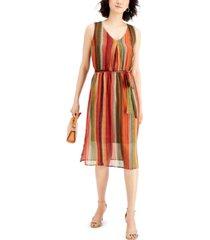 nine west striped chiffon dress