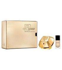 kit paco rabanne lady million eau de parfum 50ml + esmalte feminino único