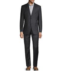classic fit 2-piece tonal plaid wool suit