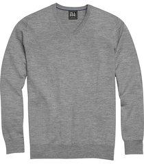jos. a. bank traveler men's gray modern fit merino sweater - size: 3x