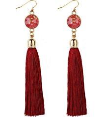 donna bohemien orecchini a goccia con frange lunghe
