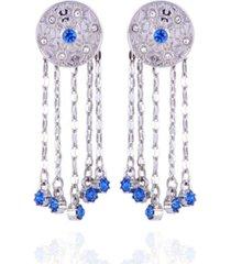 nanette nanette lepore extra celestial button earrings with fringe