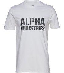 camo print t t-shirts short-sleeved vit alpha industries