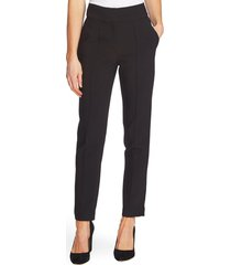 women's vince camuto pintuck stretch crepe skinny pants, size 14 - black